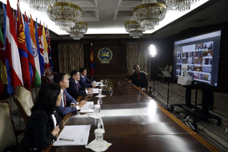 Дэлхийн улс орнуудын парламентын тэргүүн нарын цахим чуулга уулзалт эхэллээ